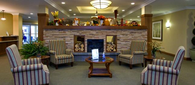 Waterside Retirement fireside-lobby