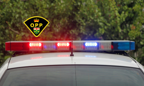 Lights Flashing on a Police Car